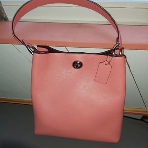 Coach Charlie Bucket Bag Pink